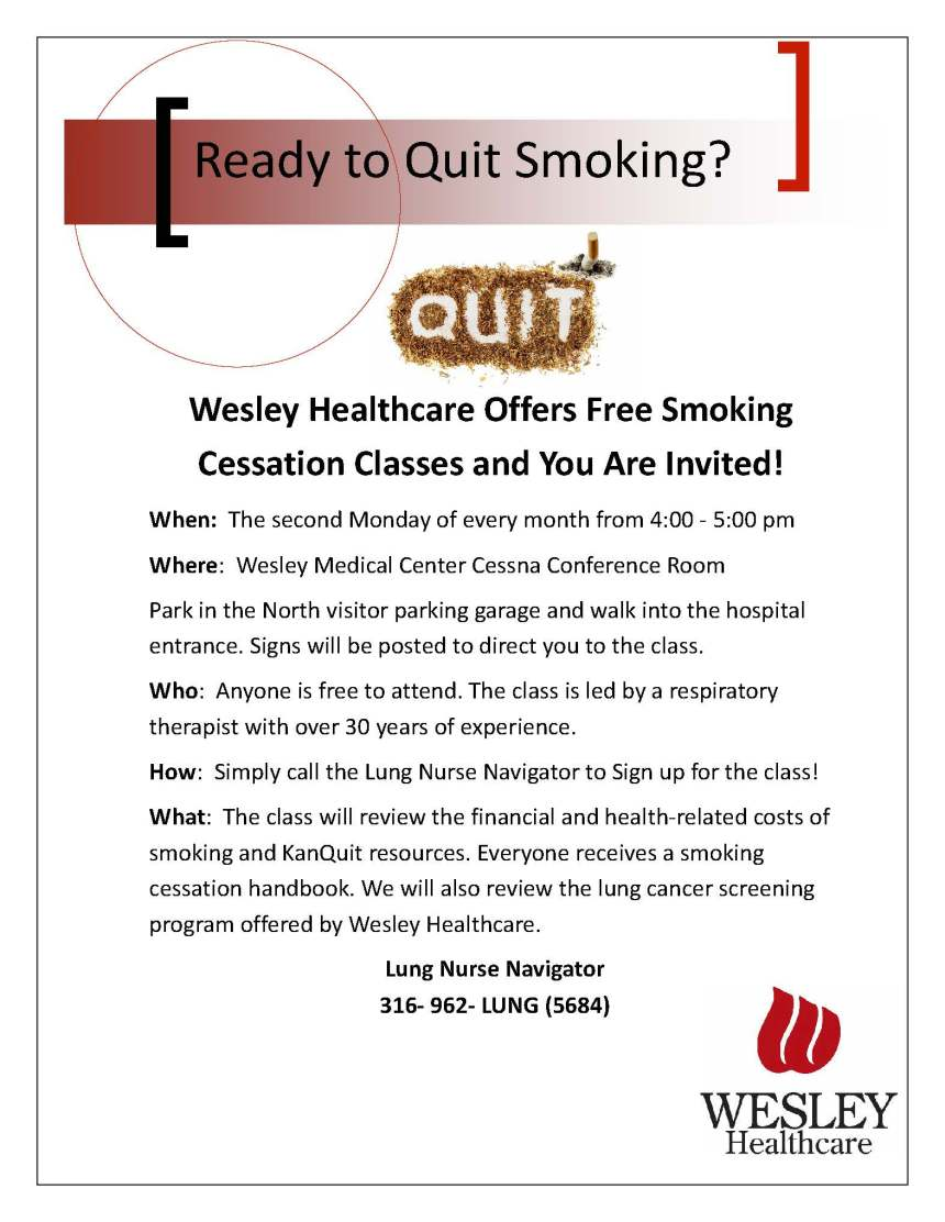 Smoking Cessation Flier-Wesley